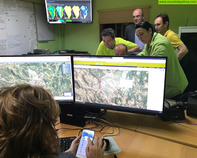 El incendio de Llano Negro en Garafía está controlado