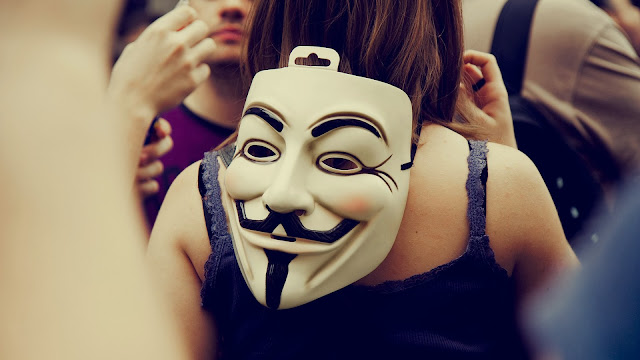 Mascara de Anonymous - V Vendetta