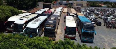 ANTT apreende em Cuiabá (MT) 17 ônibus de 10 empresas que operavam mercado municipal sem autorização