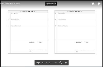 Format Buku Tamu Umum Sekolah PAUD/ TK/ RA/ KB Doc