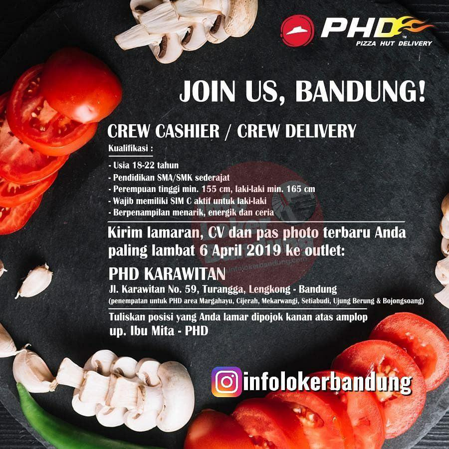 Lowongan Kerja Pizza Hut Delivery ( PHD ) Bandung & Cimahi April 2019
