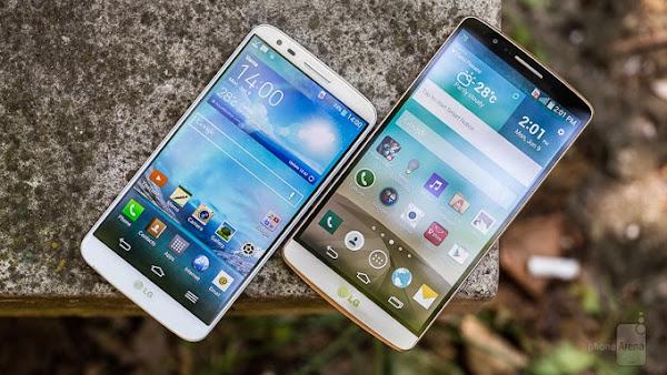 LG G3 vs. LG G2