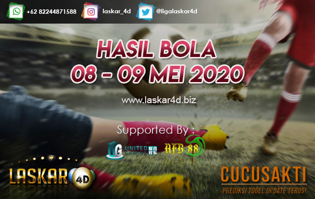 HASIL BOLA JITU TANGGAL 08 – 09 MEI 2020