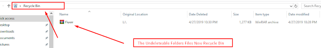 Delete Undeleteable Folders Files in Windows