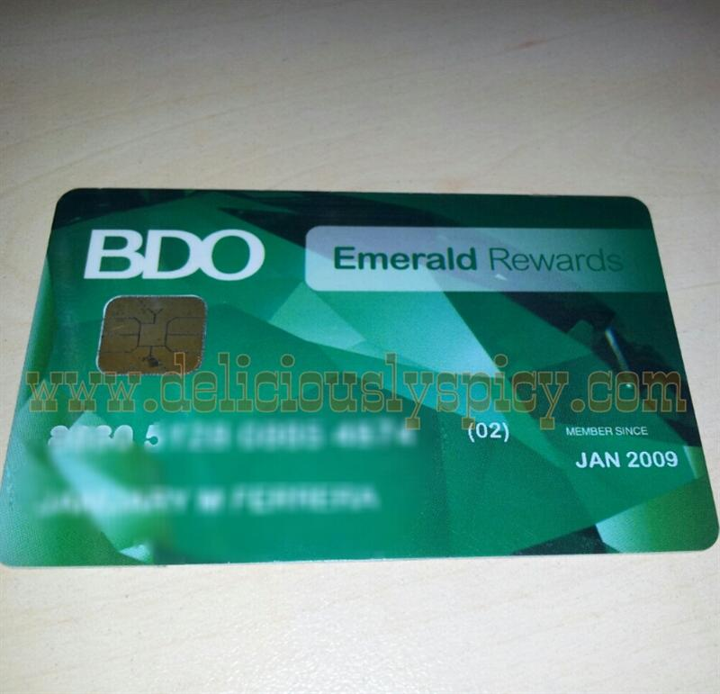 How To Use Bdo Emerald Rewards Card