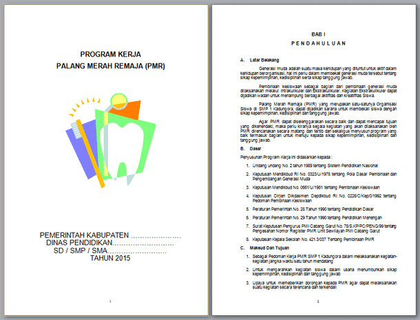 Contoh Program Kerja PMR (Palang Merah Remaja)