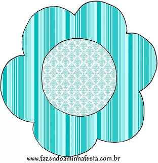 Tiffany con Rosas: Wrappers y Toppers para Cupcakes de Bodas para Descargar Gratis.