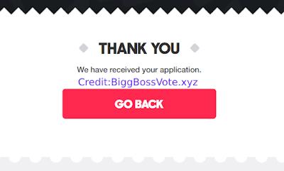 Bigg Boss 13 Online Registration submit