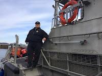 Bob Daraio on the Station Manasquan 47' Motor Lifeboat