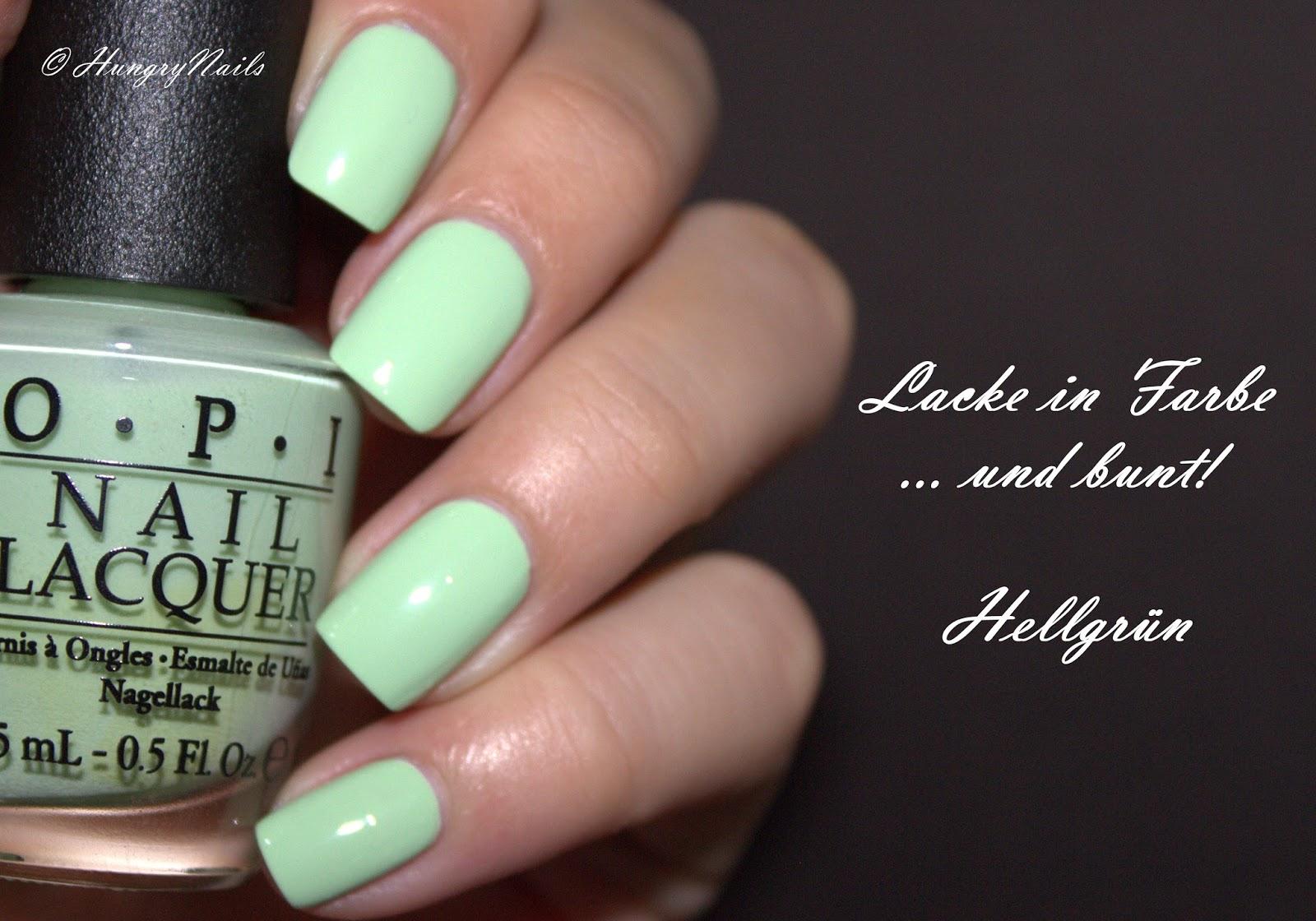 Lacke in Farbe und bunt   Hellgrün - HungryNails Blog   Die bunte ...