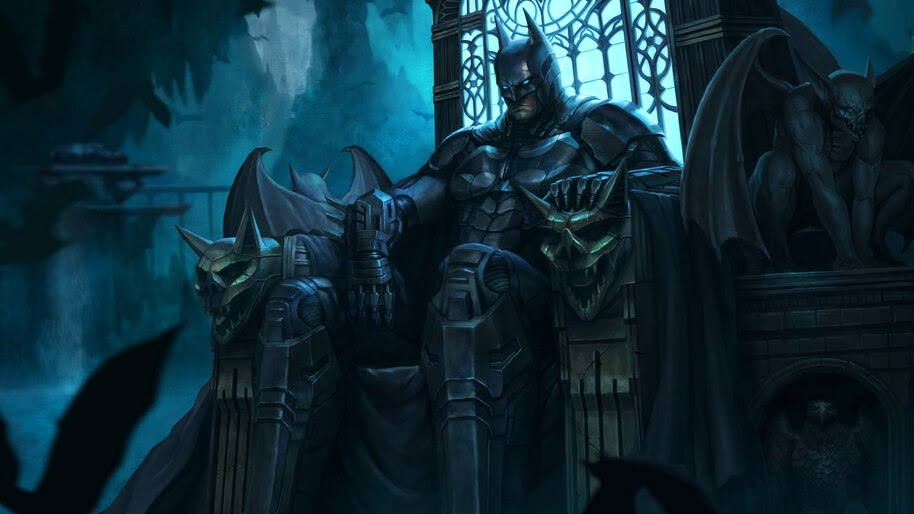 Batman, Batcave, Throne, DC, Superhero, 4K, #6.1949