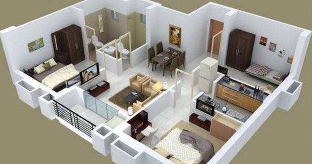 Denah Rumah Minimalis Sangat Fungsional Dengan 3 Kamar Tidur Beri Mardiansyah