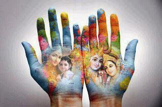 Creative Krishna janmashtami Painting
