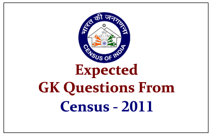 GK Question and Answer on Census 2011: Population Growth of India