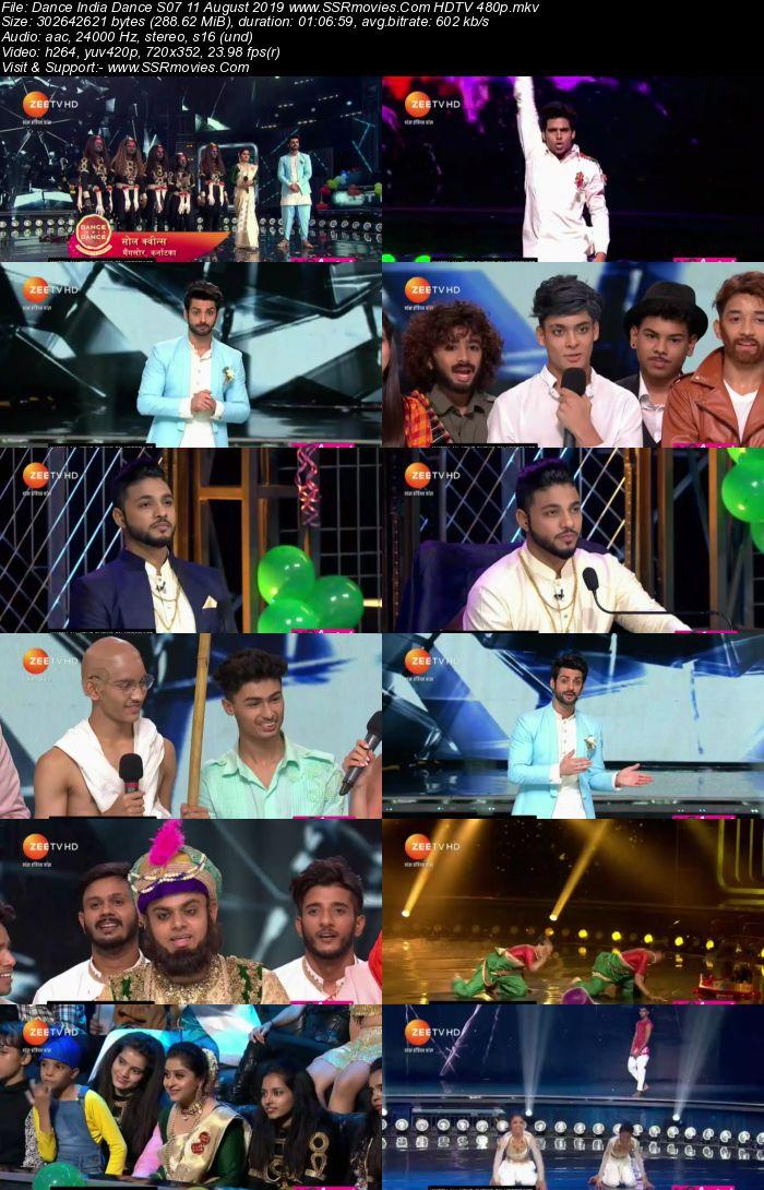 Dance India Dance S07 11 August 2019 HDTV 480p Full Show Download