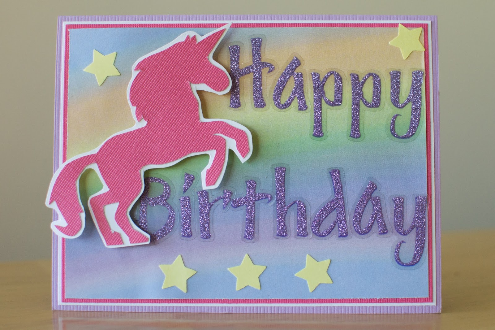 Unicorn Happy Birthday Cards Printable Best Cars 2018