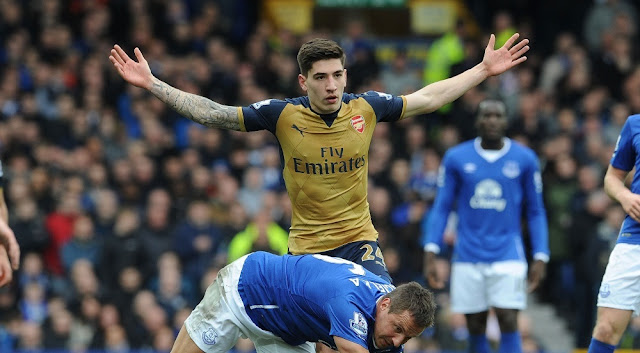 bellerin vs everton arsenal 2016