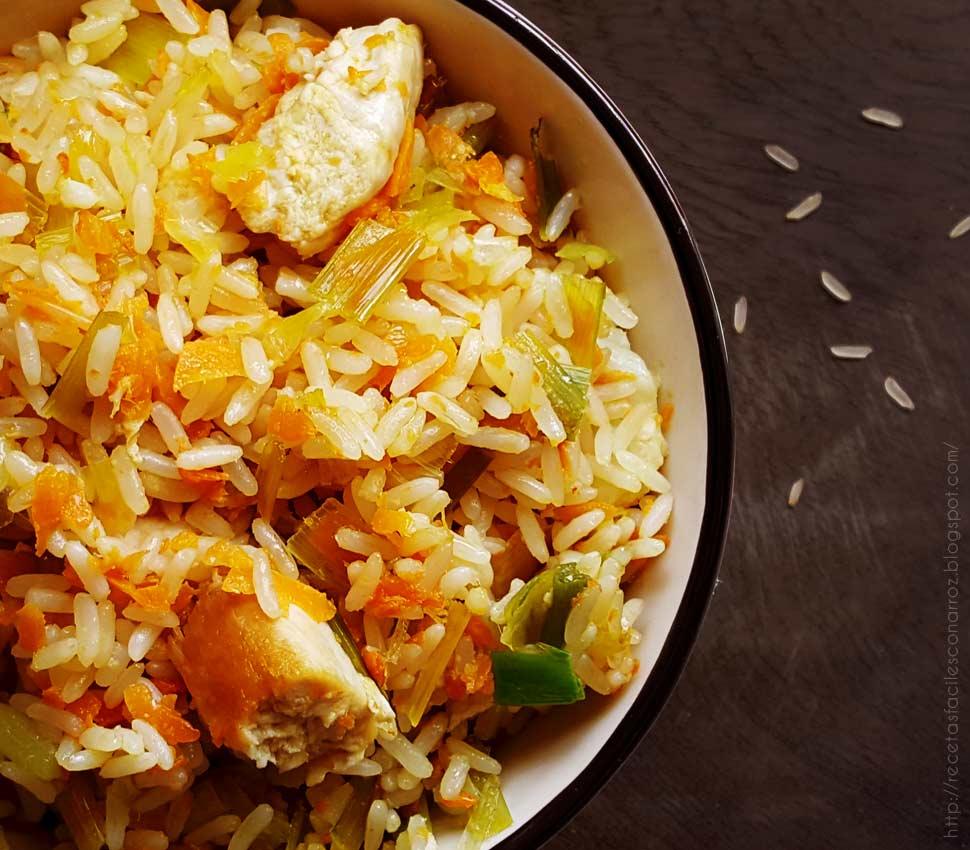 arroz con pollo y calabaza