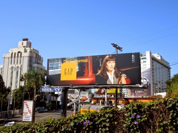 Gap Dress Normal Anjelica Huston billboard