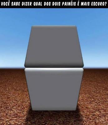 Desafio -  Qual lado dos painéis é mais escuro?