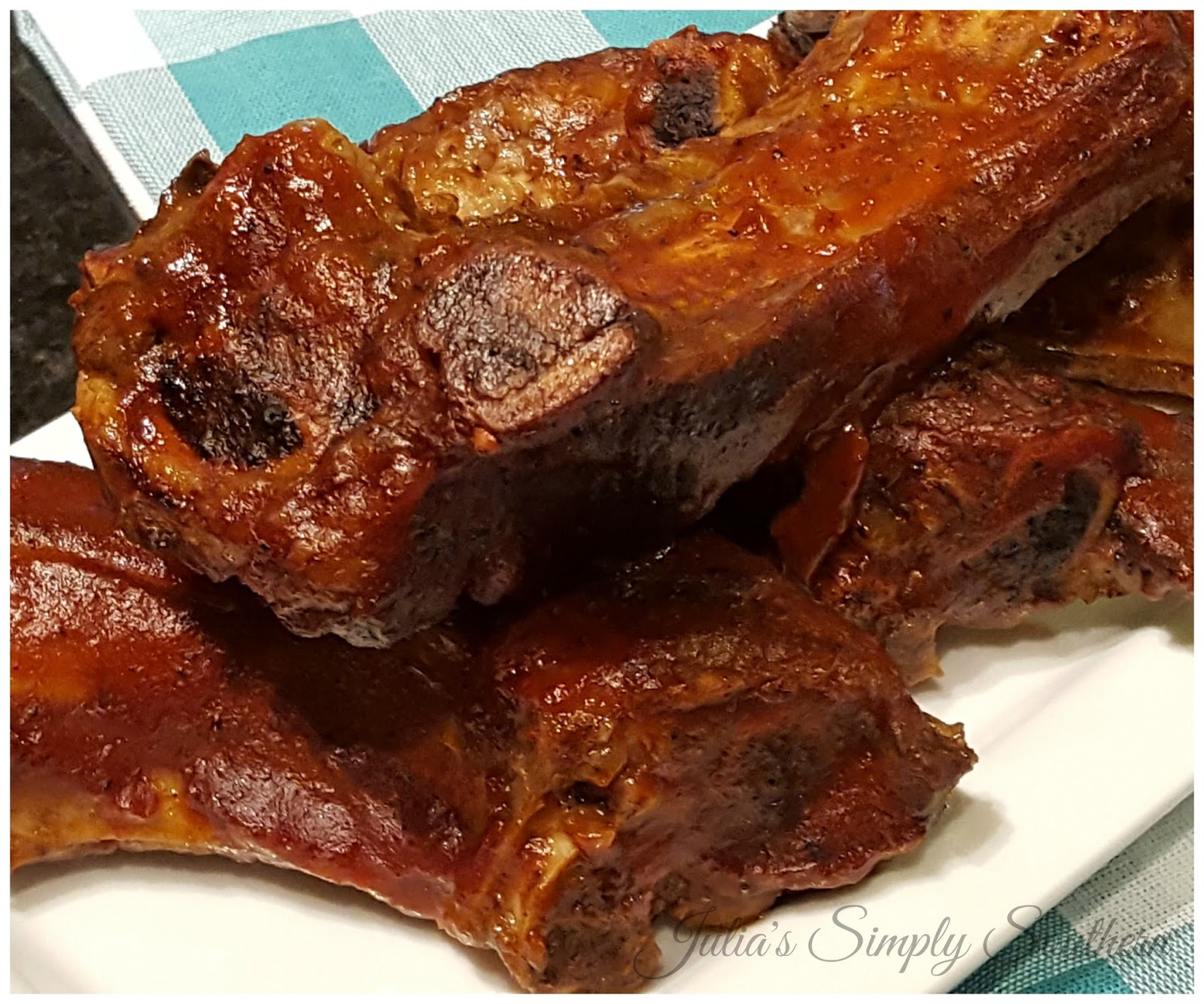 Julia's Simply Southern: Oven Baked BBQ Beef Ribs