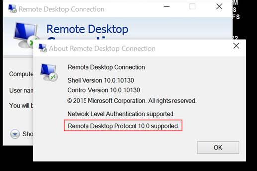 The Microsoft Platform: Remote Desktop Protocol 10, zoom option to