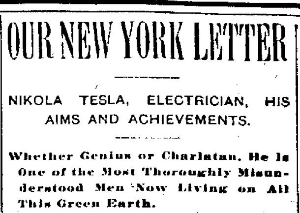 Understanding Nikola Tesla, A Letter from Dexter Marshall