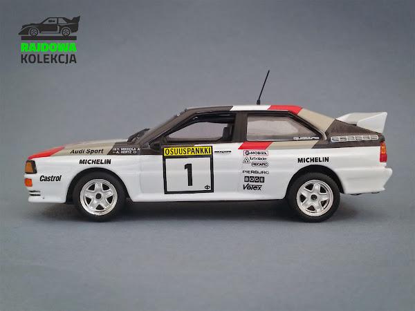 IXO Eaglemoss Audi Quattro A2 1000 lakes rally 1983
