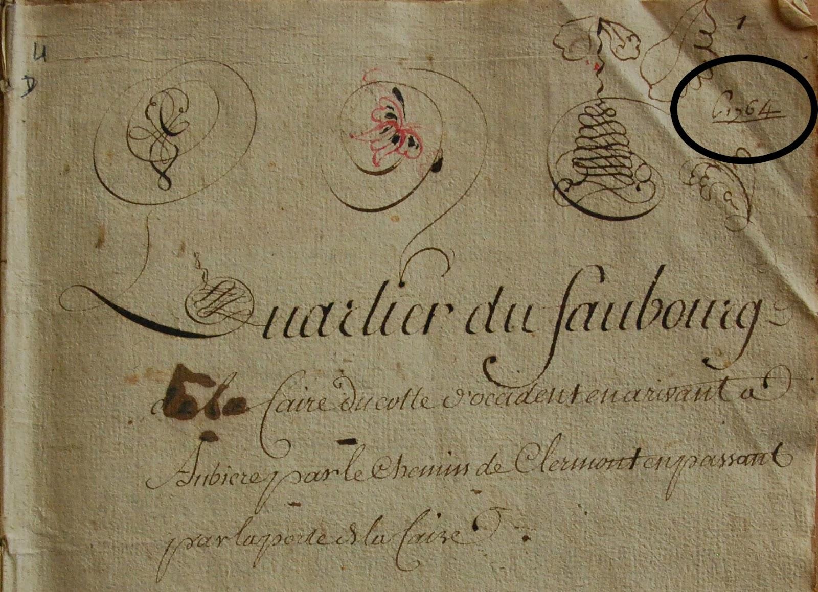 cercle g n alogique et historique d 39 aubi re terrier de 1764. Black Bedroom Furniture Sets. Home Design Ideas