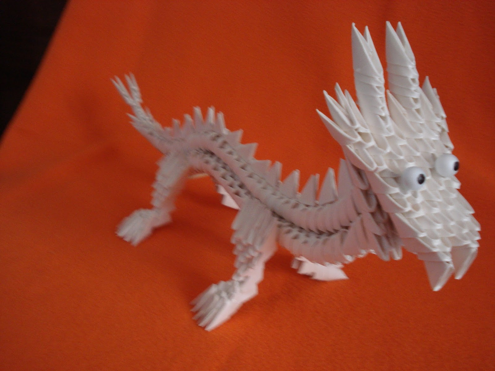 MANUALIDADES Y OTROS ENTRETENIMIENTOS: Dragón. Origami 3d - photo#24