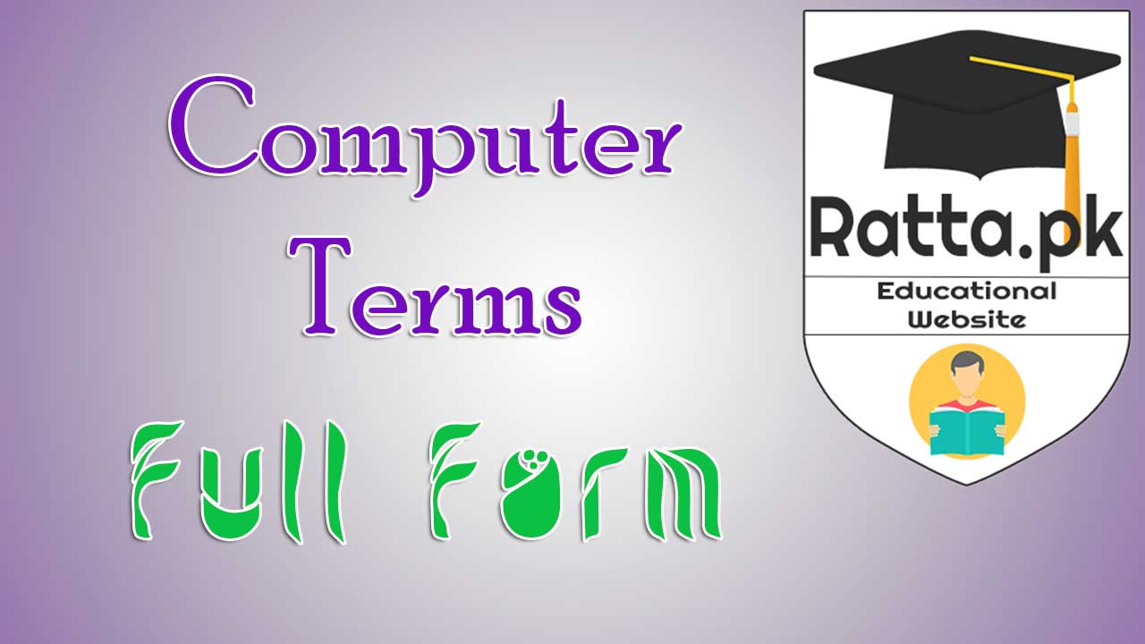 Computer Related Terms Abbreviations And Their Full Forms