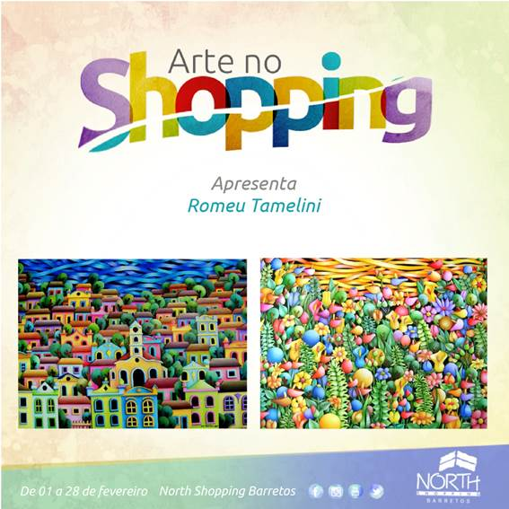 Romeu Tamelini volta a expor suas obras no North Shopping Barretos a partir do dia 1º de fevereiro