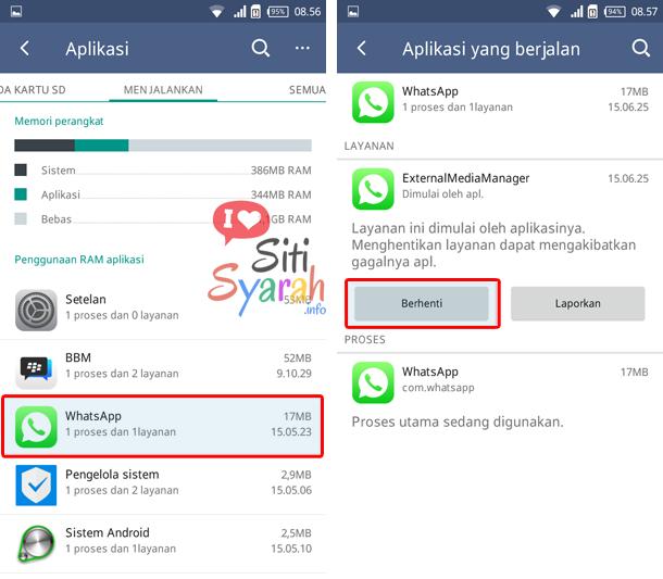 menutup aplikasi yang aktif berjalan di Android