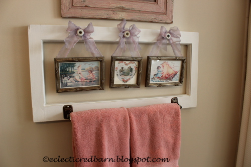 Eclectic Red Barn: Valentine's Day Bathroom Window and Rod