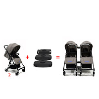 detachable twin stroller chris and olins 701 mini