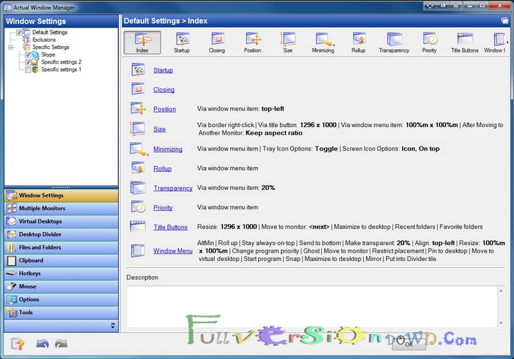 Actual Windows Manager Full Version