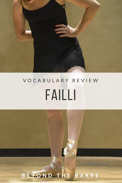 Vocabulary review: Failli