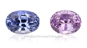 Batu Safir warna Violet and lavender