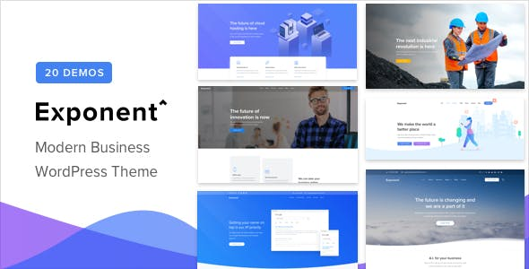 Download Free Exponent v1.0.5 – Modern Multi-Purpose Business Theme Exponent – Modern Multi-Purpose Business Theme Free Download v.1.0.5 – ThemeForest | Exponent v1.0.5 – Modern Multi-Purpose Business Theme is a modern business theme that allows you to create amazing high-performance websites with a fully visual interface. The theme comes with 20 pre-built demo websites that you can use as your website's starting point. Exponent was created by the same team behind Oshine, one of the best-selling topics with more than 22,000 customers. We have developed the theme using years of experience, customer feedback and a framework tested on live websites in 1000. Exponent is our best theme yet, without a doubt.