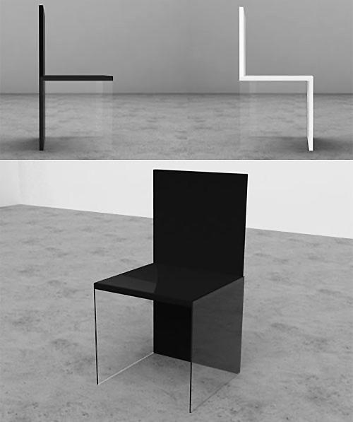 Tek Ayaklı Cam Sandalye