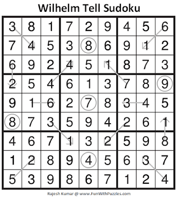 Answer of Wilhelm Tell Sudoku Puzzle (Fun With Sudoku #327)