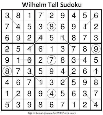 Answer of Wilhelm Tell Sudoku Puzzle (Fun With Sudoku #327)