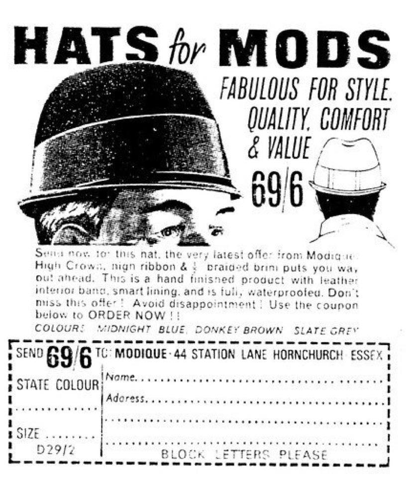 Headstart Hats Sixties Mod Hat Advert
