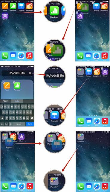 Cara membuat folder dan menambahkan aplikasi pada iPhone atau iPad