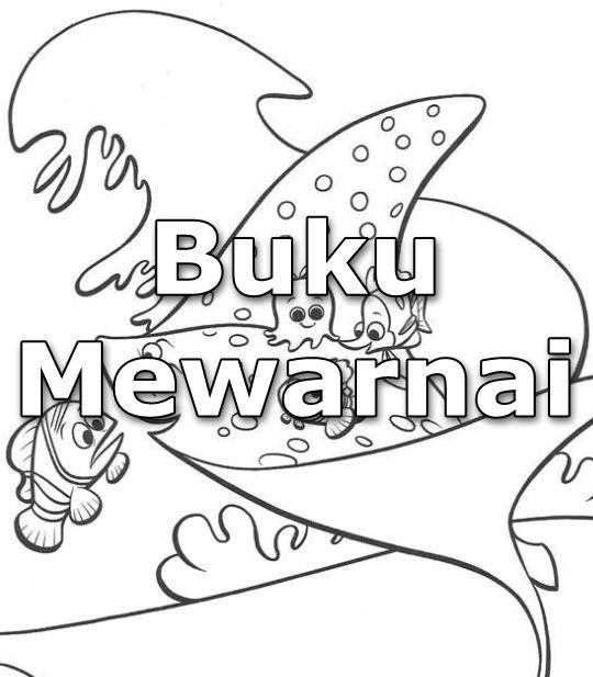 Download Buku Mewarnai Tema Finding Nemo Revisi Guru