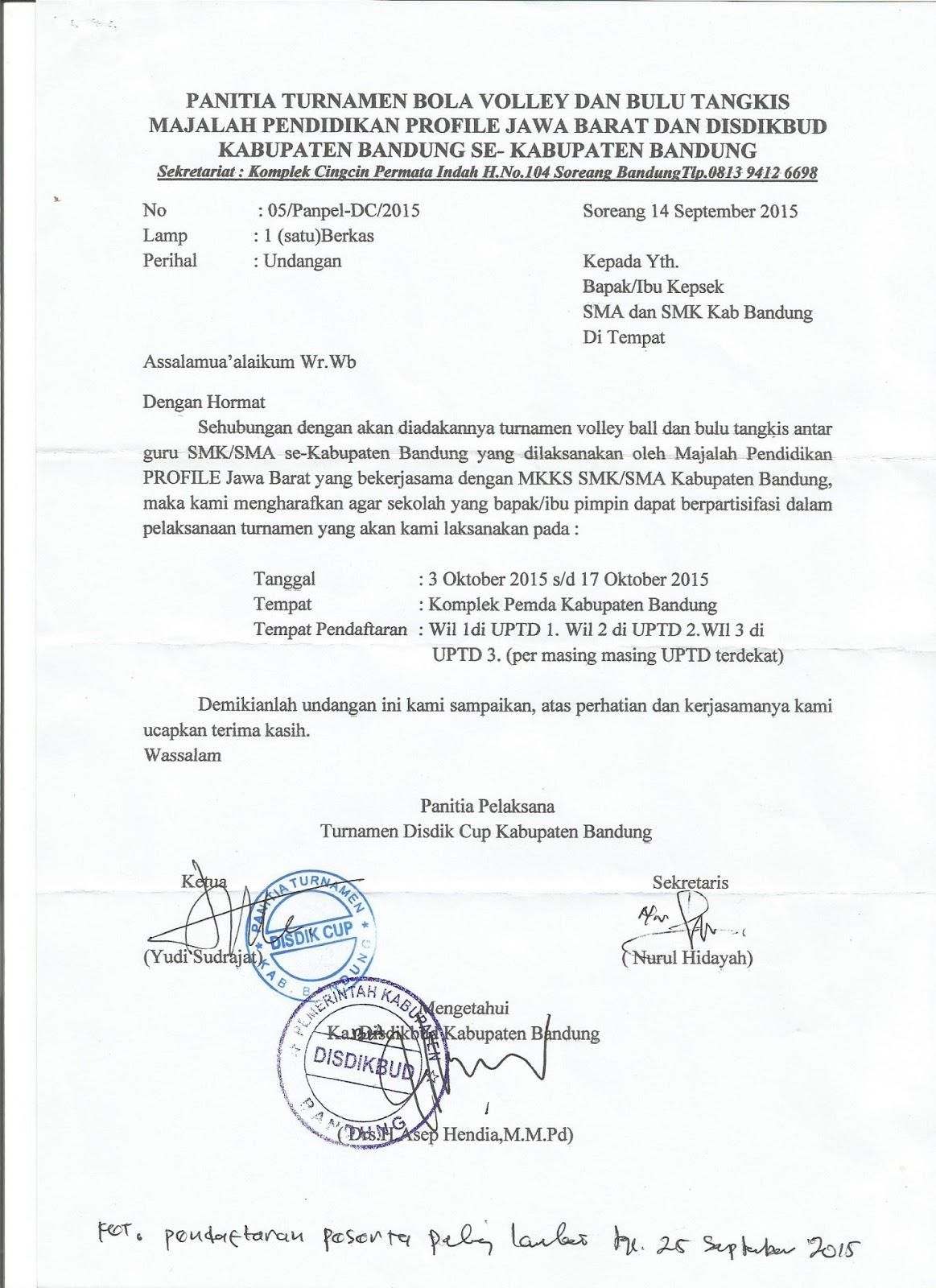 K3s Smk Kab Bandung Bulu Tangkis Bola Voli Disdik Cup Anatar