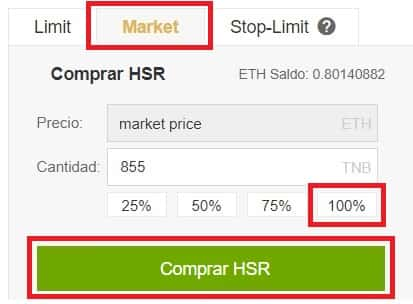 Comprar HCash en Binance (HSHARE HSR)