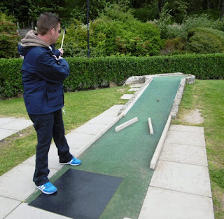 Mini Golf course at Lister Gardens in Lyme Regis, Dorset