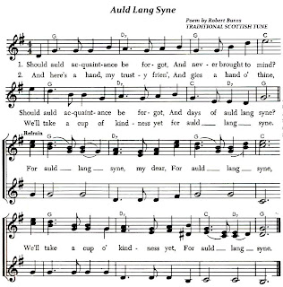Auld Lang Syne (Lyrics and Sheet Music)-Traditional Scottish Folk Song