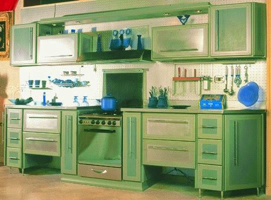تصميمات واشكال رائعه لدواليب المطبخ الالمونيوم Aluminum Kitchens